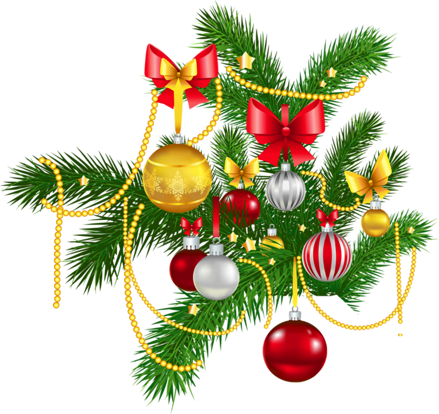 Christmas decorations clipart.