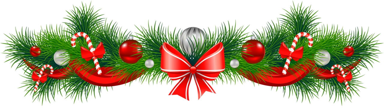 christmas garland clipart transparent background #13