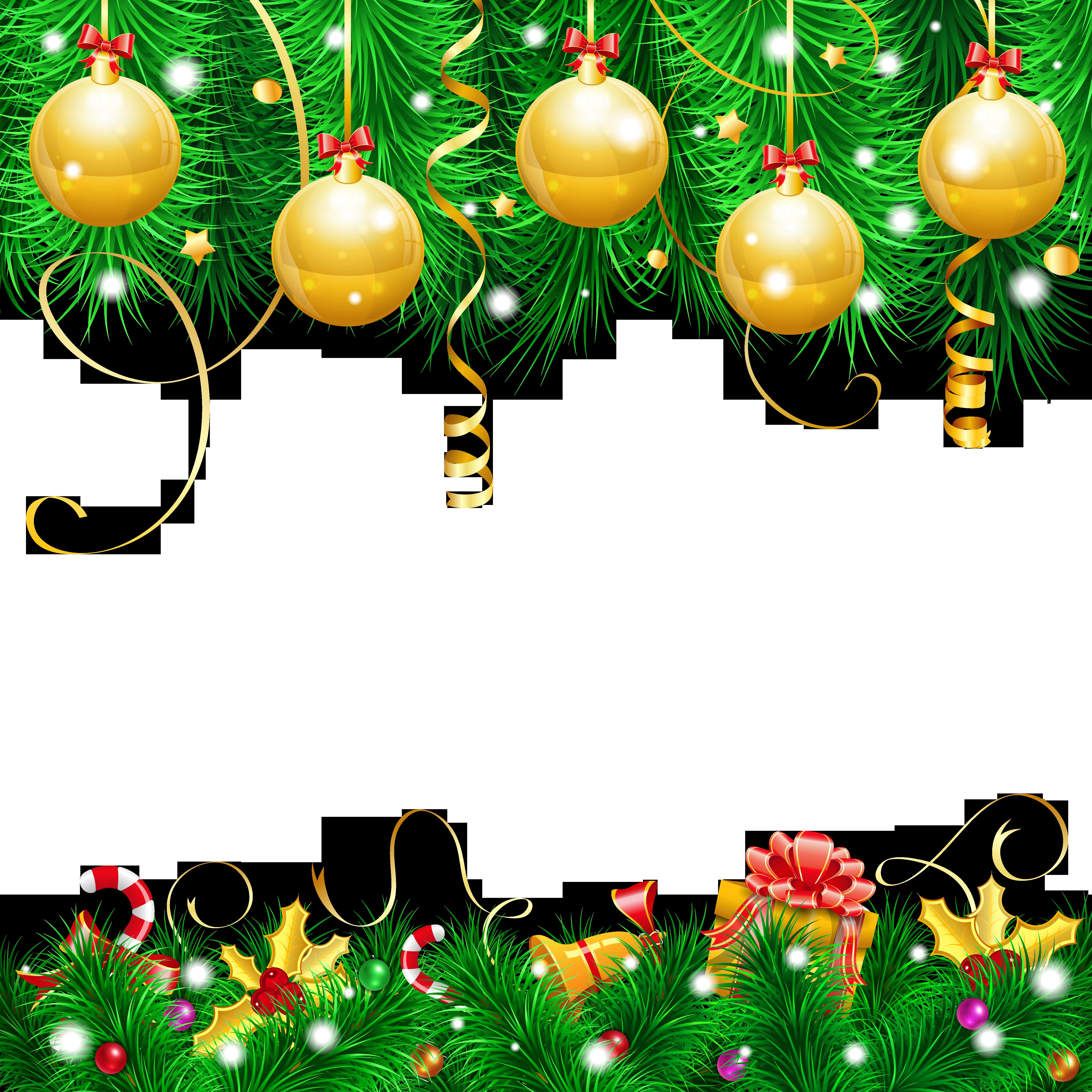 Transparent Christmas Decor PNG Clipart.