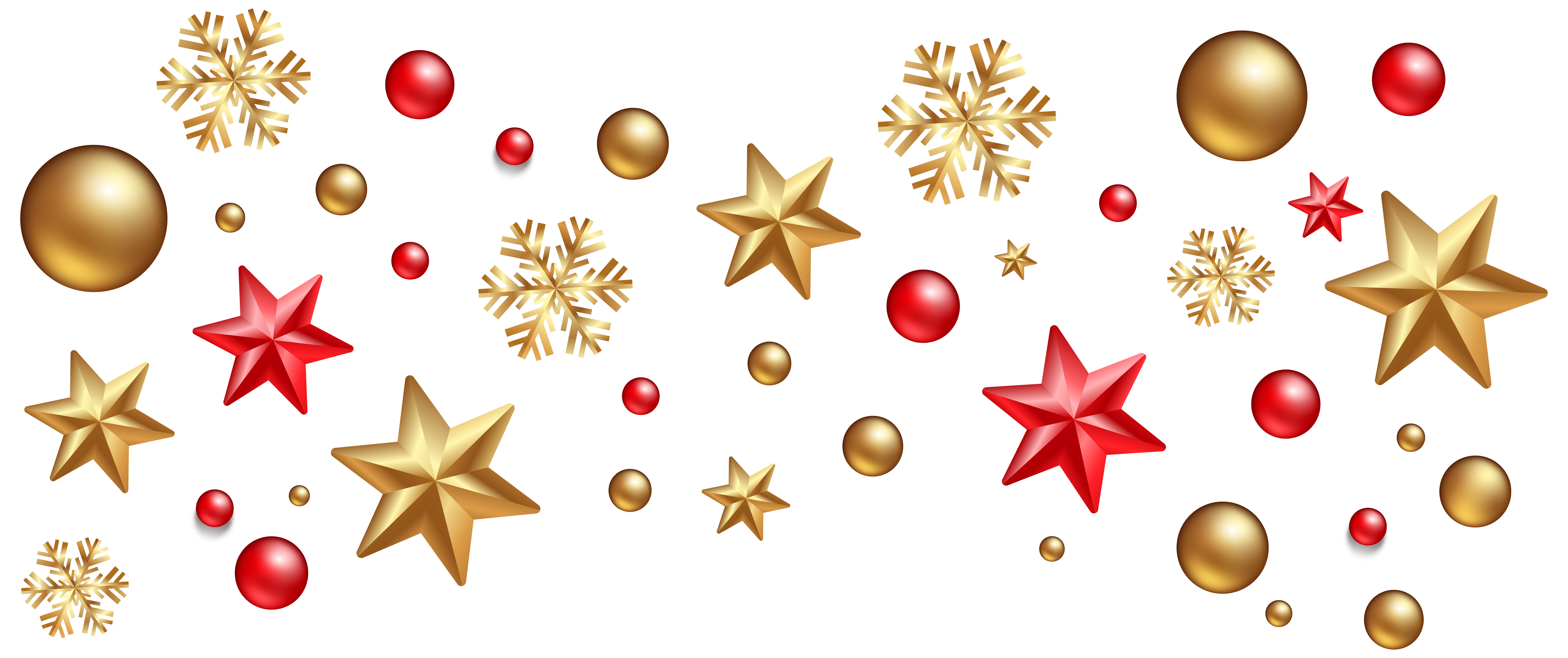 Christmas Decorations PNG Clipart Image.