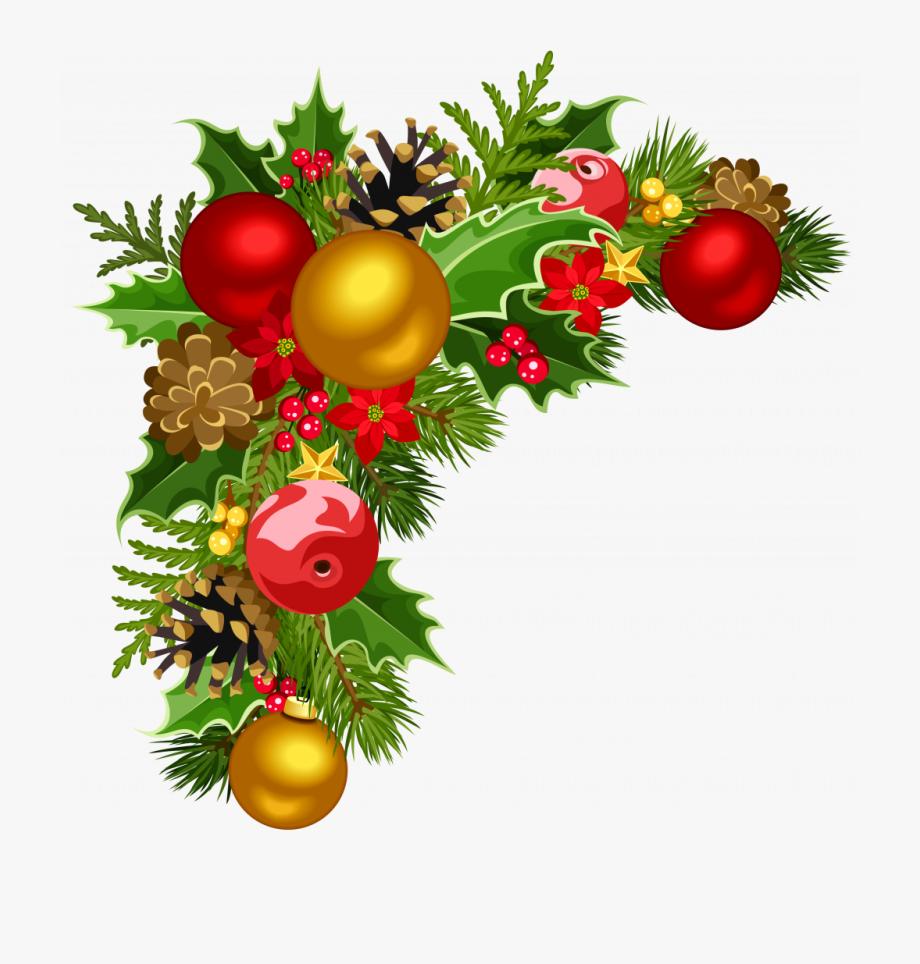 Christmas Ornaments Clipart Transparent Background.