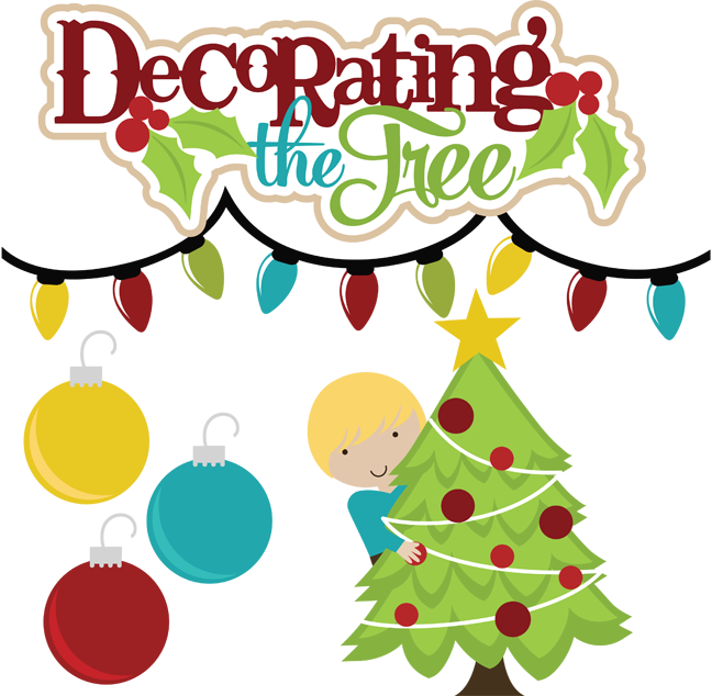 HD Decorating The Tree Svg Files For Scrapbooking Christmas.