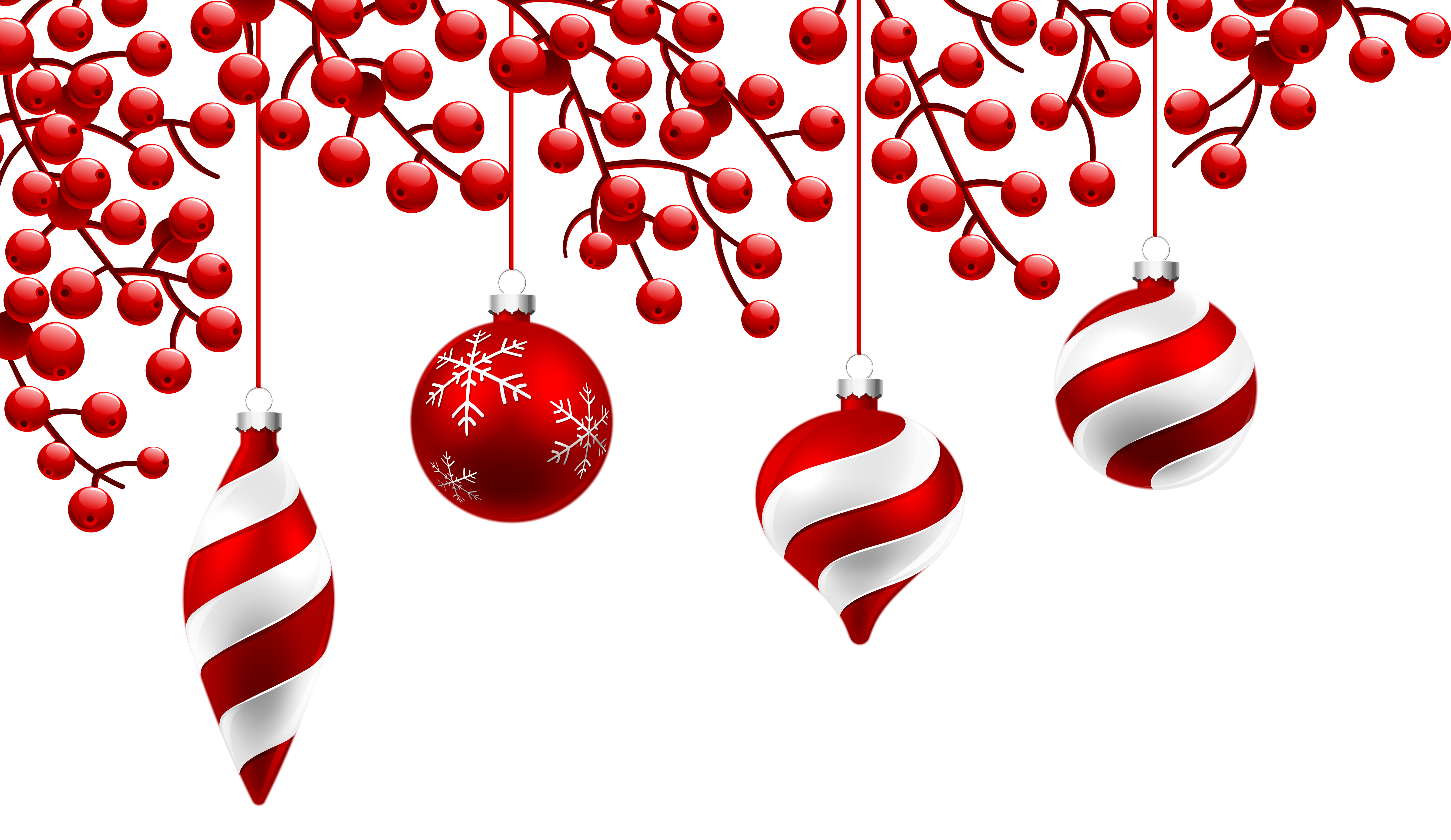 Red Christmas Decoration PNG Clipart Image.