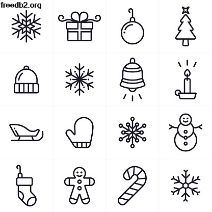 Christmas decorations clipart black and white 4 » Clipart Portal.