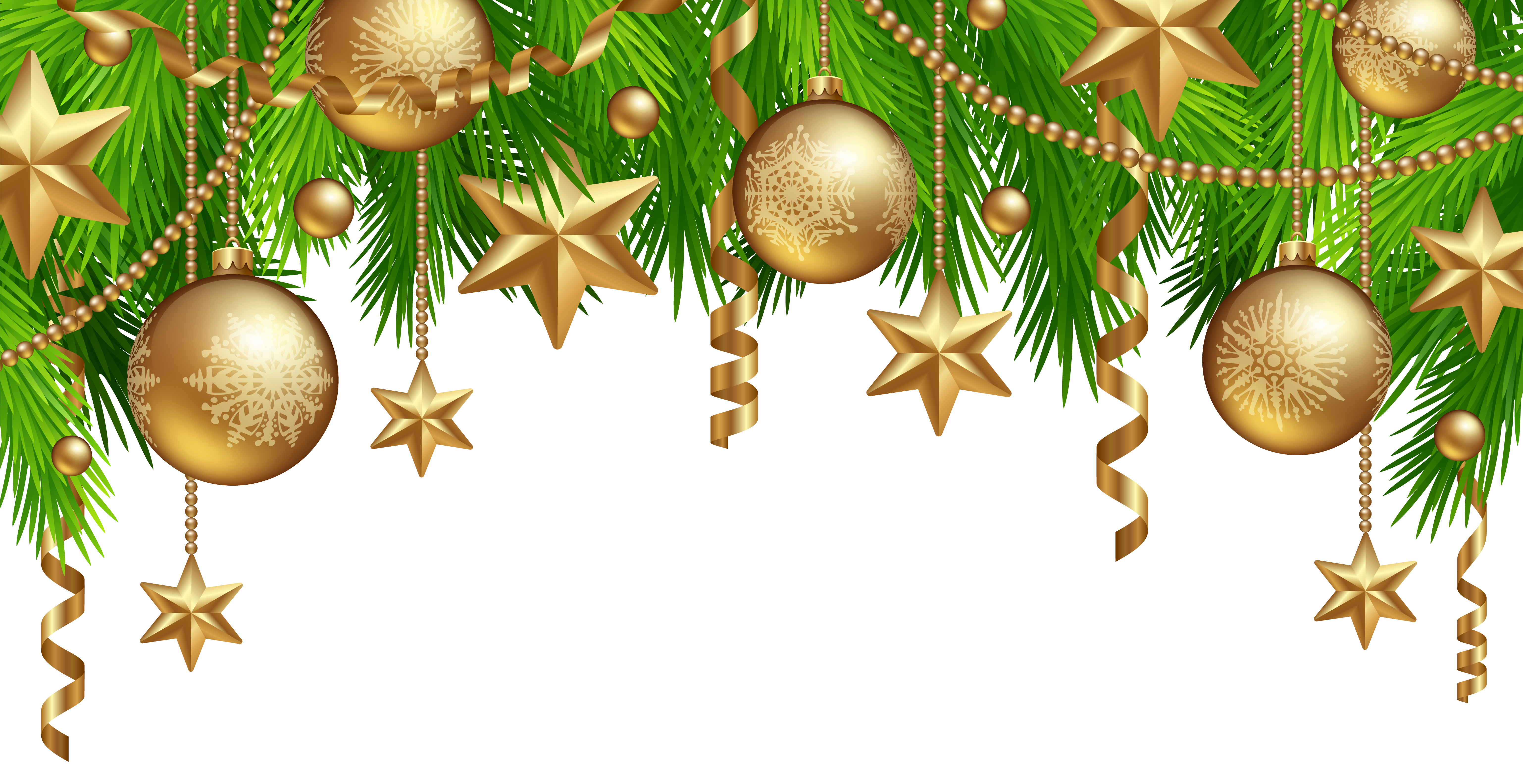 Christmas Border Decor PNG Clipart Image.