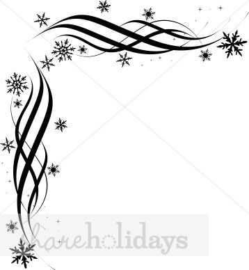 Christmas Decorations Clipart Borders Black And White on Bronchial Tubes With Bronchitis