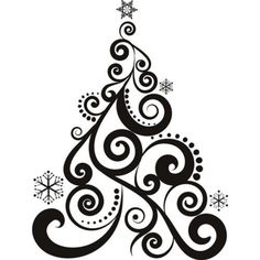 Christmas decorations clipart black and white 8 » Clipart.