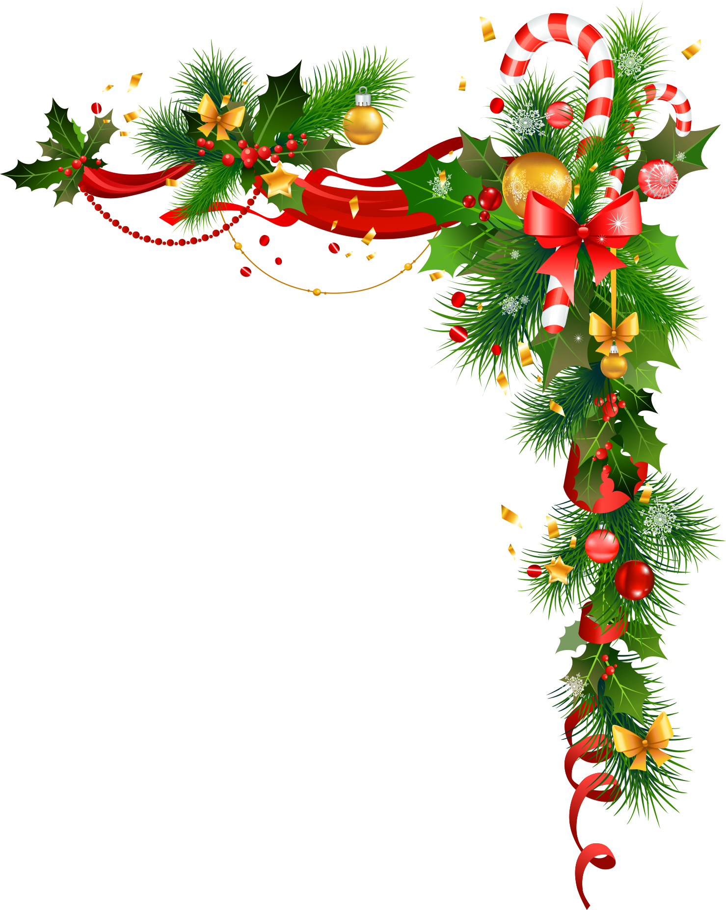 Christmas Decorations PNG Background.