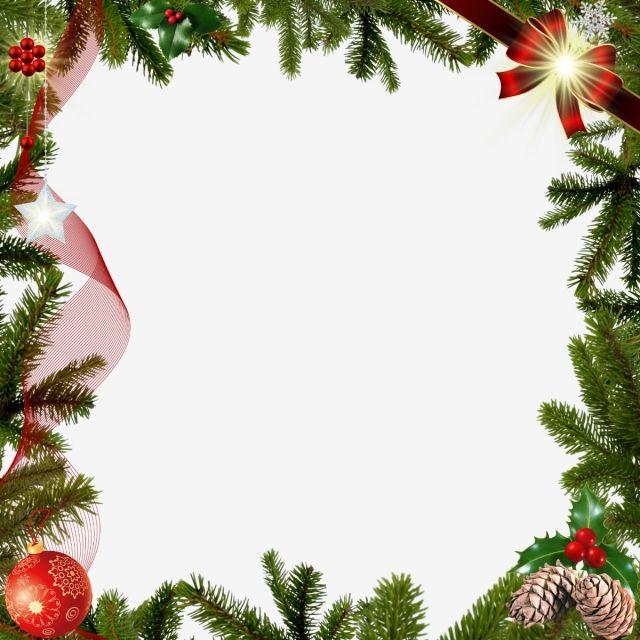 Christmas Frame Decoration, Christmas, Square Frame, Christmas.