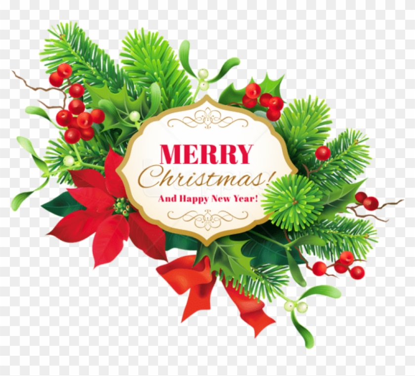 Free Png Merry Christmas Decor Png Images Transparent.