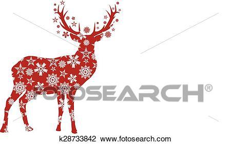 CHRISTMAS DEER Clipart.