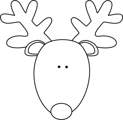 Reindeer clipart black and white #4.