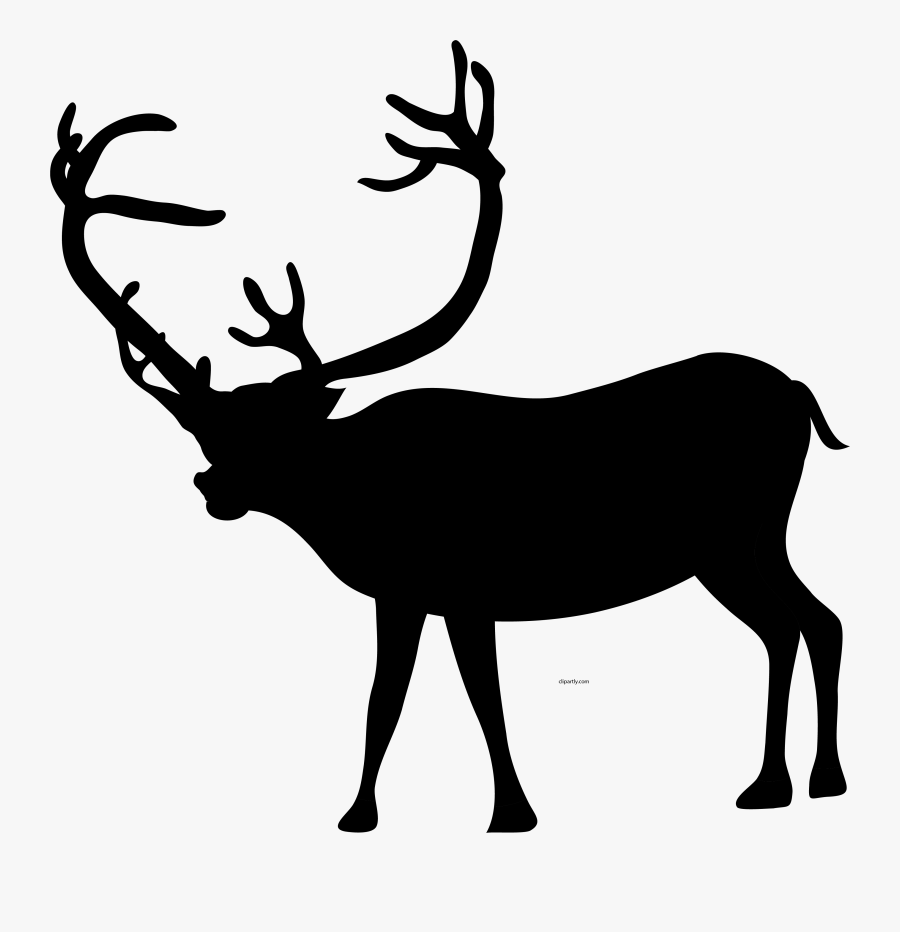 Christmas Black Color Deer Clipart Png.