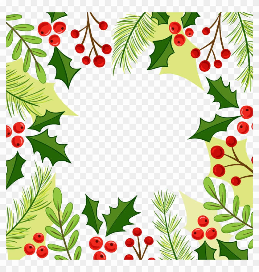 Christmas Corner Border Design Clip Art, HD Png Download.