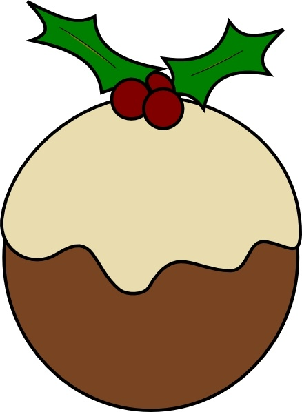 Karderio Christmas Pudding clip art Free vector in Open.