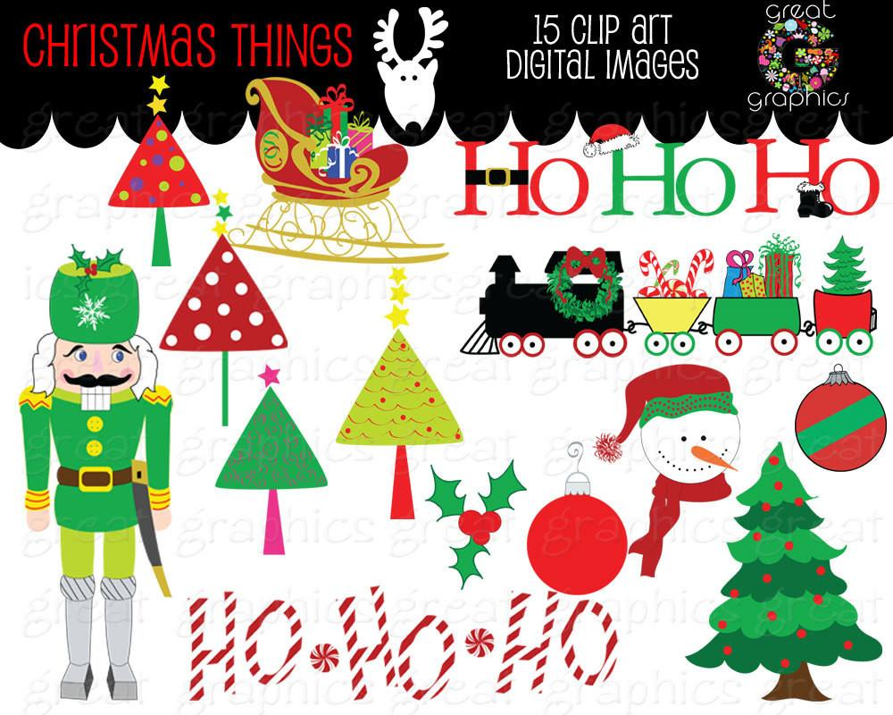 Christmas Clipart Christmas Digital Clip Art Christmas Printable Christmas  Tree Clipart Digital Christmas Clip Art.