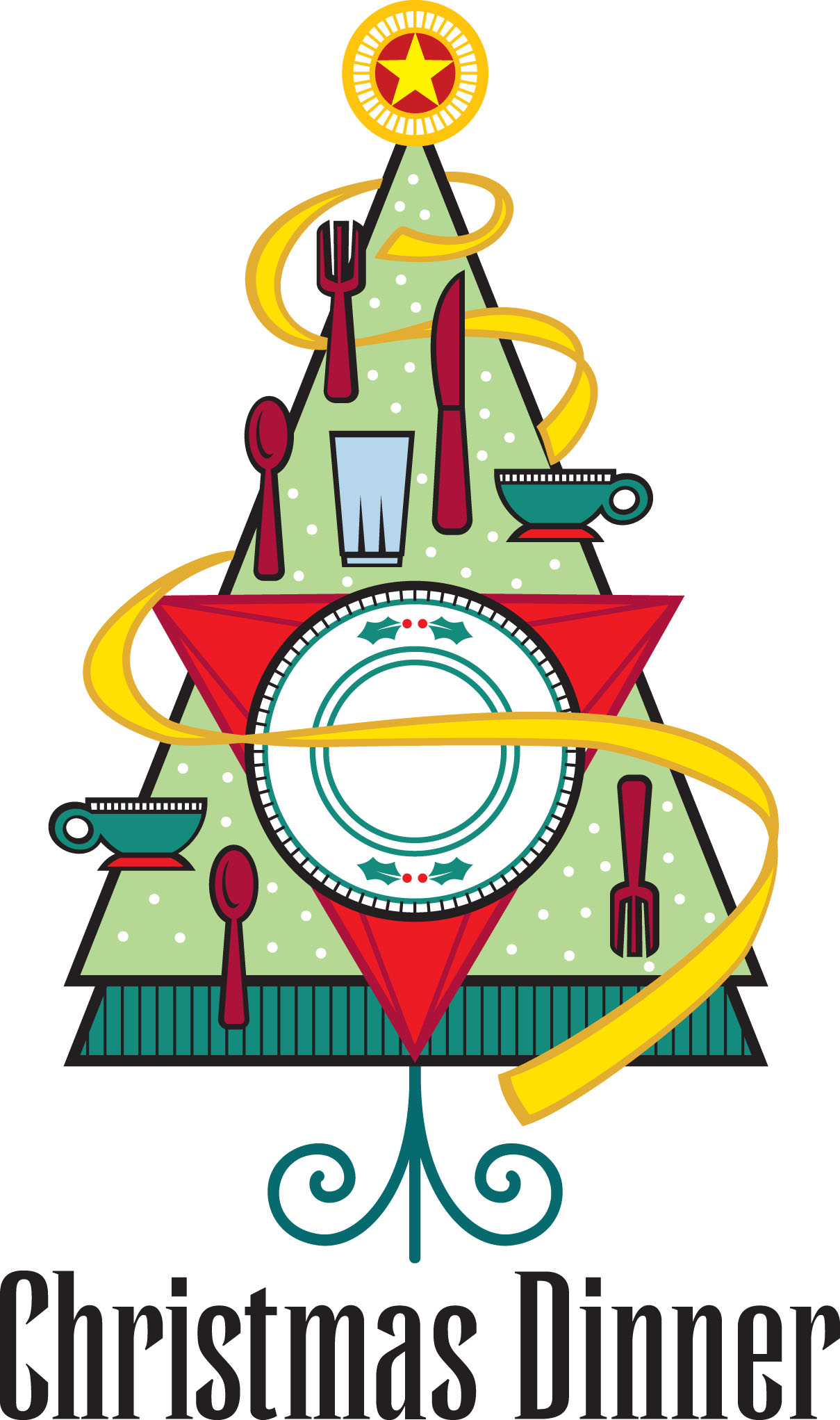 Clip Art Church Christmas Dinner Clipart.