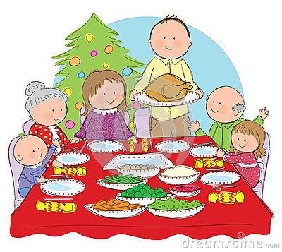 Christmas dinner clipart images.