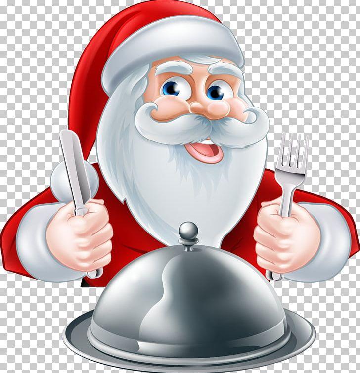 Santa Claus Christmas Pudding Christmas Dinner PNG, Clipart.