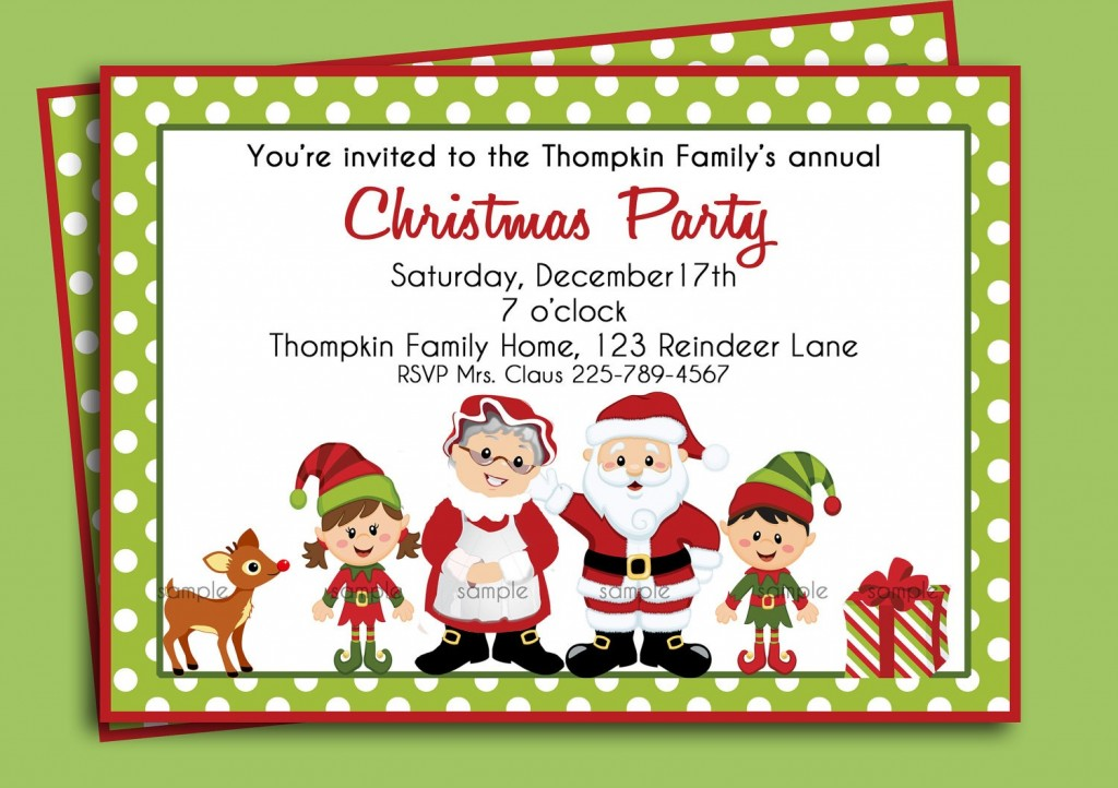 036 Free Christmas Dinner Party Invitation Templates.