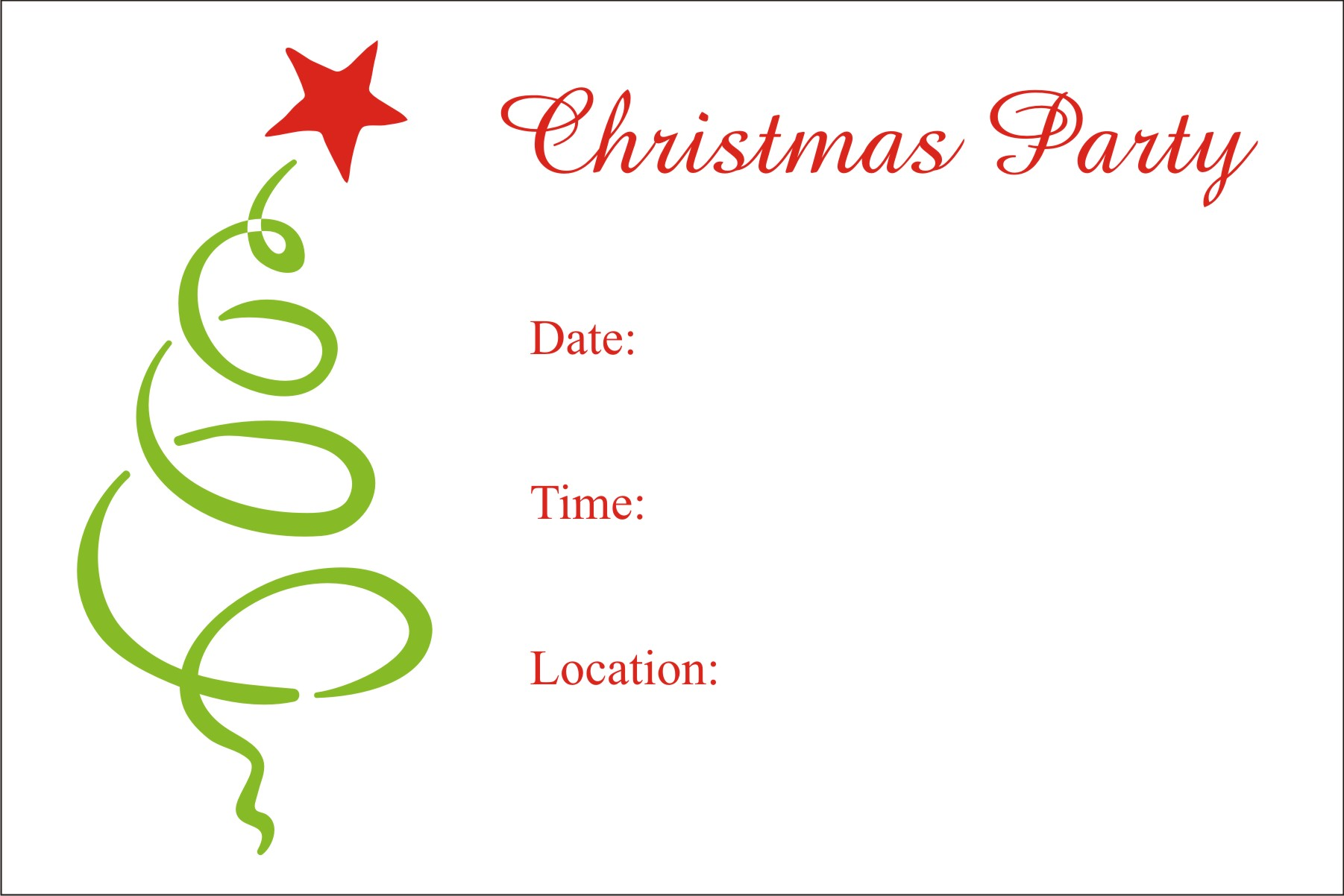 Free Clipart Christmas Party Invitations.