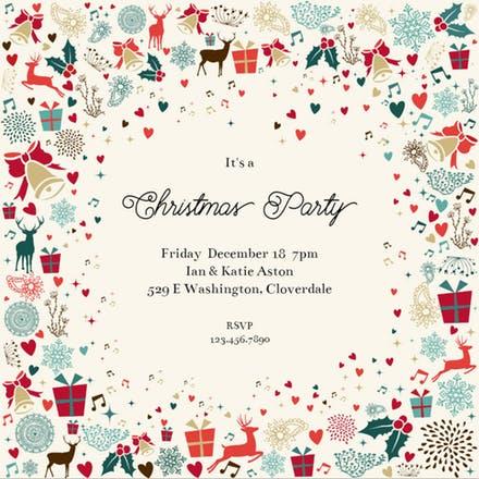 Christmas Party Invitation Templates (Free).