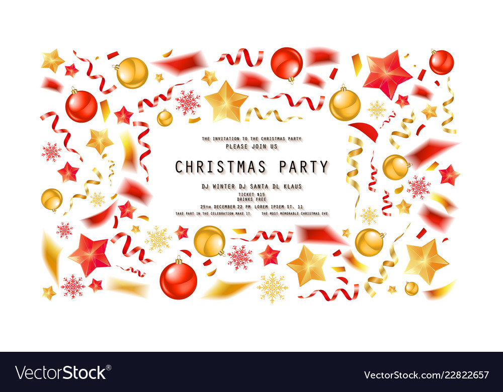 Christmas party or dinner invitation.
