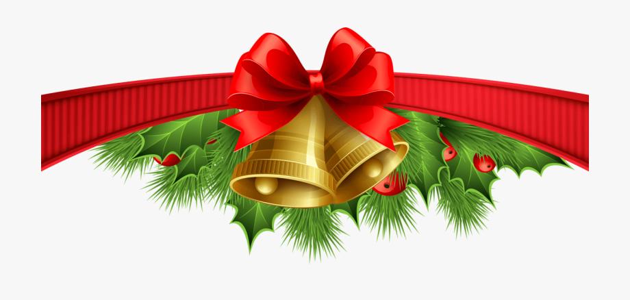 Christmas Clipart Divider Transparent Background.