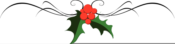 Christmas Page Divider Clipart.