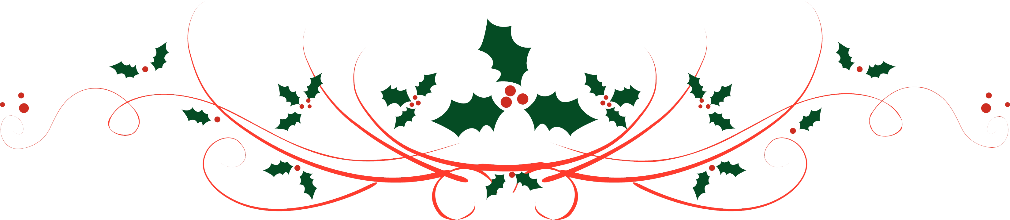 Christmas Dividers PNG Transparent.