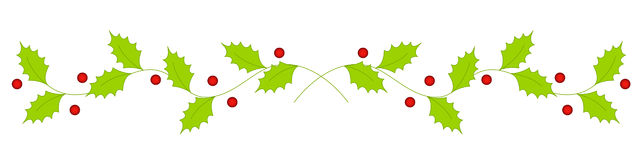 Clipart Christmas Page Dividers.