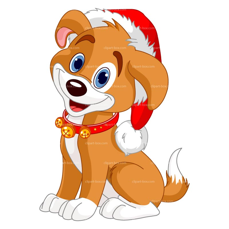 Christmas dog clipart - Clipground