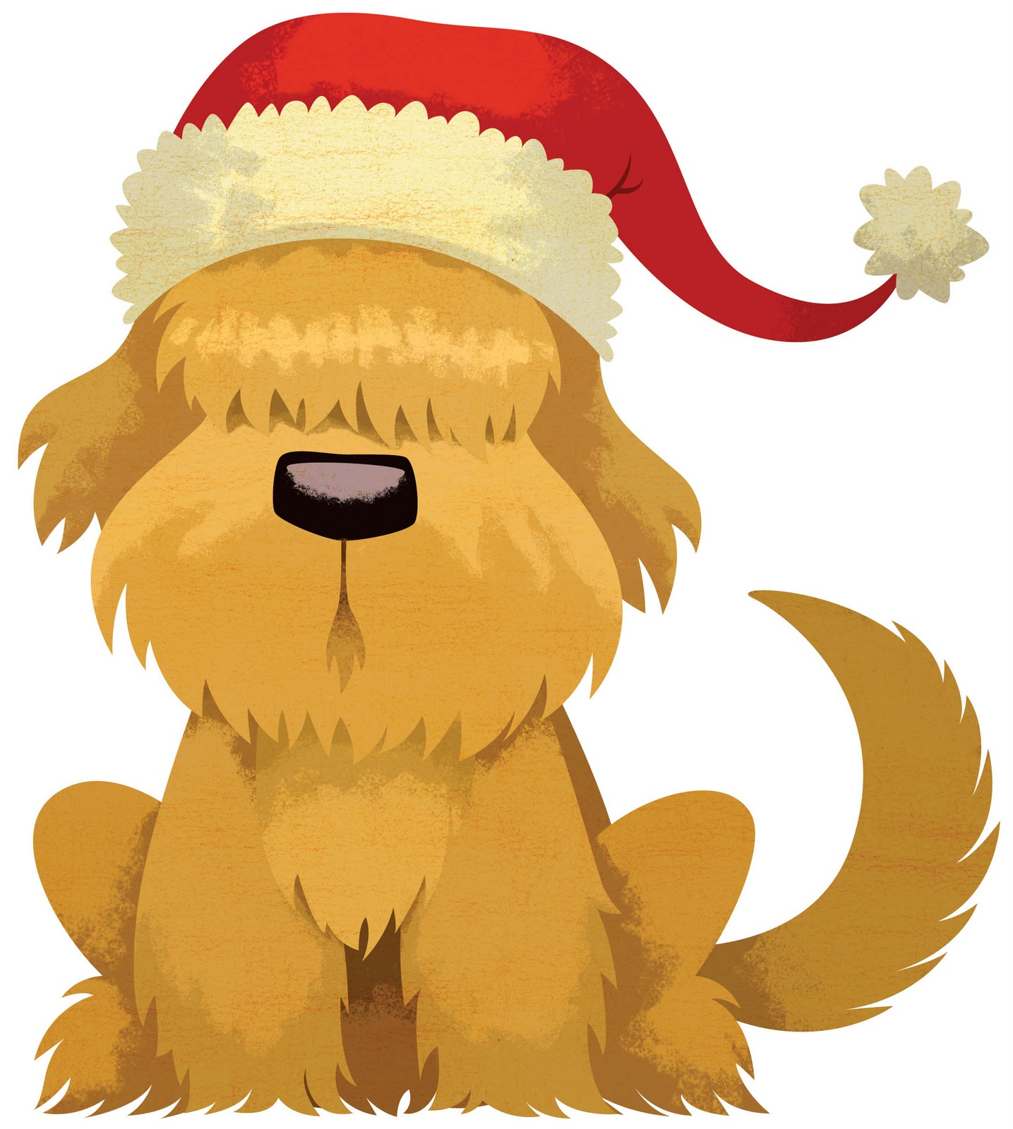 Cute christmas dog clipart free.