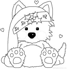 Christmas Animal Clipart Black And White.