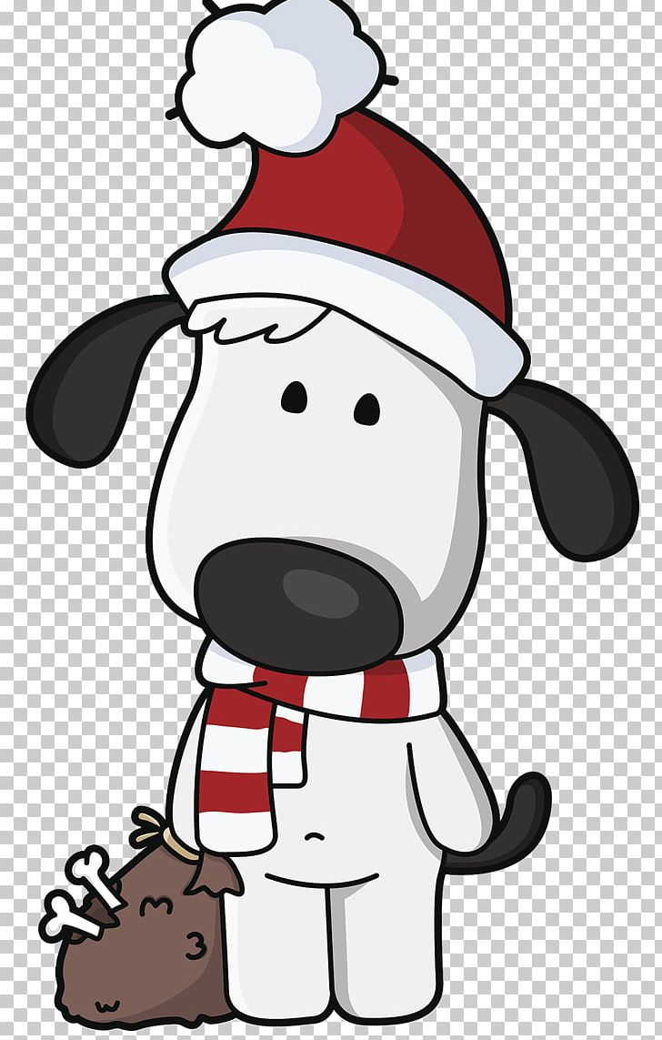 Dog Santa Claus Christmas PNG, Clipart, Black And White.