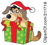 Christmas dog clipart free.