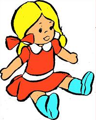 Christmas doll clipart.