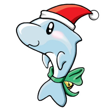 Showing post & media for Christmas dolphin cartoon.