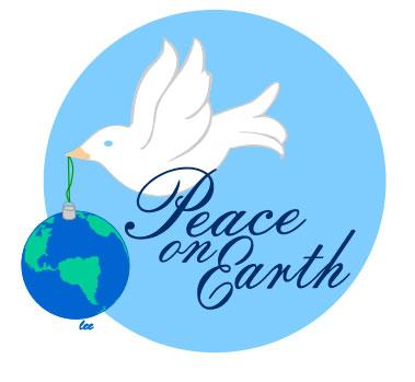 Christmas Peace Dove Clip Art.