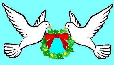 Similiar Christmas Doves Clip Art Microsoft Keywords.