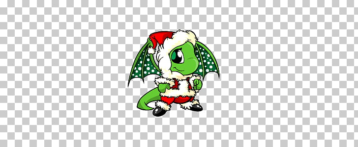 Christmas Shoyru, green dragon illustration PNG clipart.