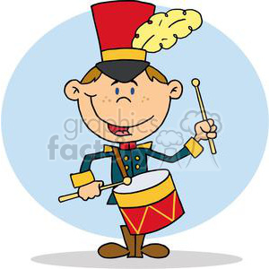 Drummer Drumming clipart. Royalty.
