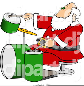 Free Christmas Drum Clipart.