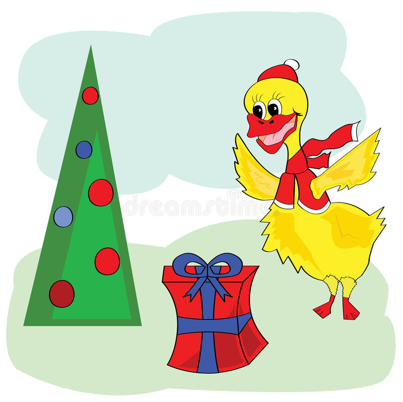Christmas Duck Stock Illustrations.