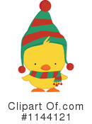 Christmas Duck Clipart #1.