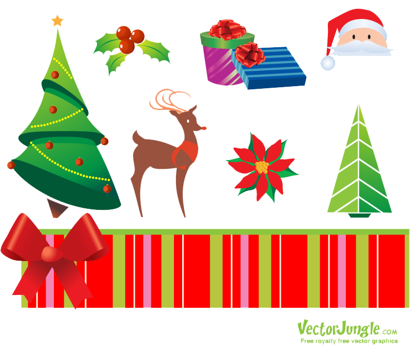 Christmas Elements PNG Free Download.