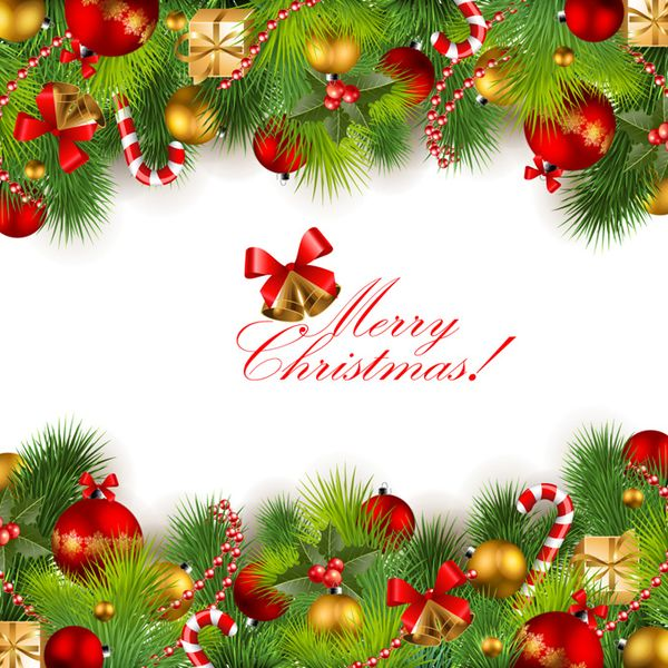 30 Merry Christmas Card Vectors Frame Design Material Free.