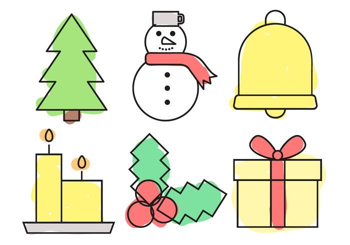 Free Christmas Elements Vector.