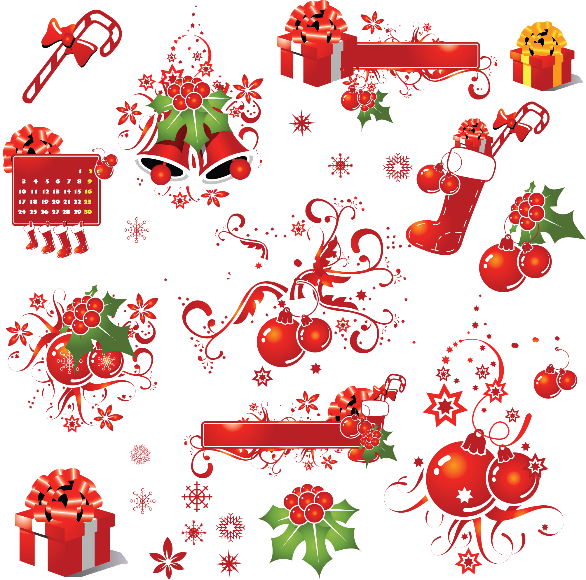 Christmas Elements PNG Picture.