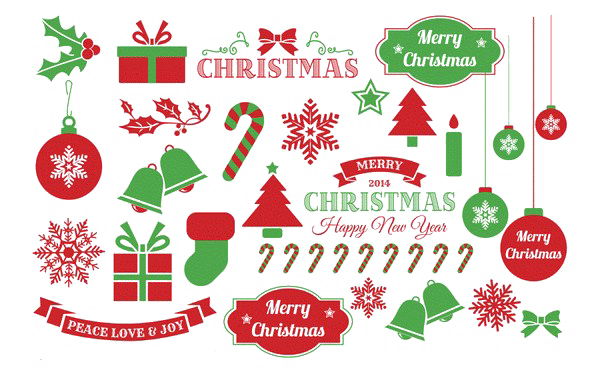 Xmas Elements PNG Picture.
